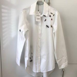 Zara button down bug shirt